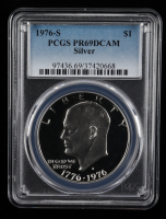 "1976-S $1 One Dollar Eisenhower ""Ike"" Silver Coin (PCGS PR69 DCAM) at PristineAuction.com"