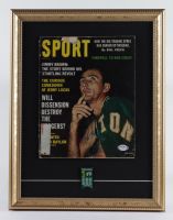 "Bob Cousy Signed 14x18 Custom Framed ""Sport"" Magazine Display with Celtics Championships Pin (PSA COA) (See Description) at PristineAuction.com"