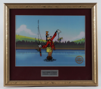 "Walt Disney's Goofy ""How to Fish"" 16x18 Custom Framed (2) Piece Animation Cel with Disney Seal at PristineAuction.com"