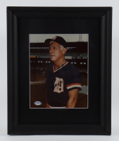 "Sparky Anderson Signed Tigers 13.5x16.5 Custom Framed Photo Display Inscribed ""Good Luck"" (PSA COA) (See Description) at PristineAuction.com"