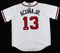 Ronald Acuna Jr. Signed Braves Majestic Jersey (JSA COA) at PristineAuction.com