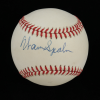 Warren Spahn Signed ONL Baseball (Beckett COA) (See Description) at PristineAuction.com