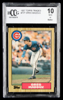 Greg Maddux 1987 Topps Traded #70T XRC (BCCG 10) at PristineAuction.com