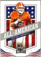 Trevor Lawrence 2021 Leaf Draft White #50 AA at PristineAuction.com