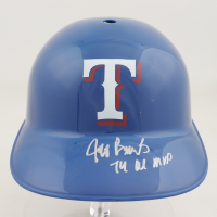 "Jeff Burroughs Signed Rangers Full-Size Batting Helmet Inscribed ""74 AL MVP"" (Schwartz COA) at PristineAuction.com"