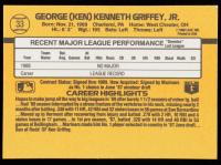 Ken Griffey Jr. 1989 Donruss #33 RR RC at PristineAuction.com
