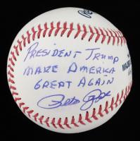 "Pete Rose Signed OML Baseball Inscribed ""President Trump Make America Great Again"" (JSA COA) (See Description) at PristineAuction.com"