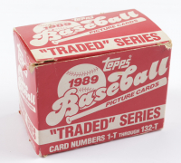 1989 Topps Traded & Rookies Complete Set of (132) Baseball Cards with #110T Deion Sanders RC, #86T Rob Murphy,  #40T Ken Griffey Sr., #57T Randy Johnson, #106T Nolan Ryan (See Description) at PristineAuction.com