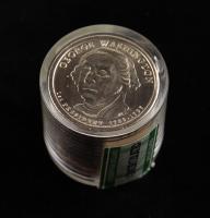 Ballistic Roll of (12) Uncirculated Danbury Mint US01DM-W George Washington Presidential Dollars at PristineAuction.com