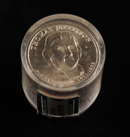 Ballistic Roll of (12) Uncirculated Thomas Jefferson Presidential Dollars at PristineAuction.com
