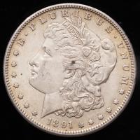 1891-S Morgan Silver Dollar at PristineAuction.com