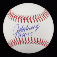 "John Smoltz Signed OML Baseball Inscribed ""HOF 15"" (JSA COA) at PristineAuction.com"