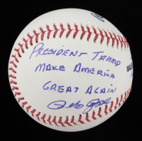 "Pete Rose Signed OML Baseball Inscribed ""President Trump Make America Great Again"" (See Description) (JSA COA) at PristineAuction.com"