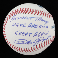 "Pete Rose Signed OML Baseball Inscribed ""President Trump Make America Great Again"" (See Description) (JSA COA & Fiterman Hologram) at PristineAuction.com"