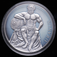2020 Cameroon 3 oz Silver Uranus, Planets and Gods 3,000 Francs Coin at PristineAuction.com