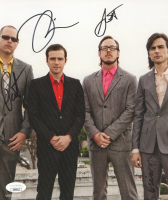 """""""Weezer"""" 8x10 Photo Signed By (4) With Rivers Cuomo, Patrick Wilson, Brian Bell & Scott Shriner (JSA COA) at PristineAuction.com"""
