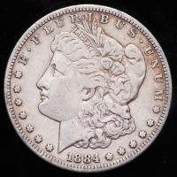 1884-S Morgan Silver Dollar at PristineAuction.com