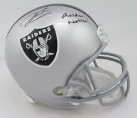 Derek Carr Signed Raiders Full-Size Helmet (Beckett COA) (See Description) at PristineAuction.com