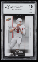 Derek Carr 2014 Upper Deck Star Rookies #10 (BCCG 10) at PristineAuction.com