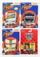 Lot of (4) 1:64 Diecast Cars with (3) 2001-2002 Kevin Harvick Mini Race Hood Series & (1) 1998 Mark Martin Car with Collector Card (See Description) at PristineAuction.com