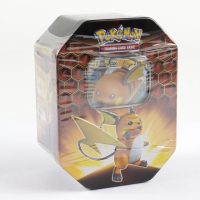 Pokemon TCG: Sun & Moon Hidden Fates Collector's Tin - Raichu - GX at PristineAuction.com