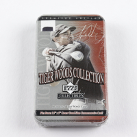 2001 Upper Deck Tiger Woods Collection Golf Tin Set Box with (25) Cards at PristineAuction.com