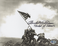 "Hershel W. Williams Signed ""Raising the Flag on Iwo Jima"" 8x10 Photo Inscribed ""Medal of Honor"" (Beckett COA) at PristineAuction.com"
