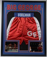 George Foreman Signed 34x42 Custom Framed Shorts Display (JSA COA & Fiterman Hologram) at PristineAuction.com