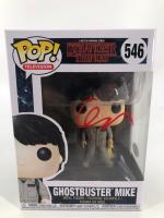 "Finn Wolfhard Signed ""Stranger Things"" #546 Ghostbuster Mike Funko Pop! Vinyl Figure (JSA COA) at PristineAuction.com"