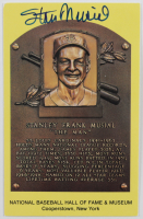 Stan Musial Signed Hall of Fame Plaque Postcard (JSA COA) at PristineAuction.com