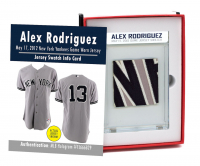 ALEX RODRIGUEZ 2012 NY YANKEES GAME WORN JERSEY MYSTERY SWATCH BOX! at PristineAuction.com
