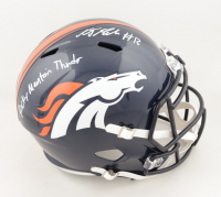 "K.J. Hamler Signed Broncos Full-Size Speed Helmet Inscribed ""Rocky Mountain Thunder"" (JSA COA) (See Description) at PristineAuction.com"
