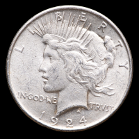 1924 $1 Peace Silver Dollar at PristineAuction.com