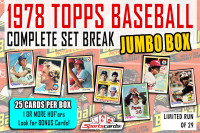"""1978 TOPPS BASEBALL COMPLETE SET BREAK"" MYSTERY BOX– 25 CARDS PER BOX at PristineAuction.com"