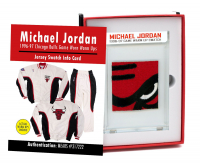 MICHAEL JORDAN 1996-97 CHICAGO BULLS GAME WORN WARMUPS MYSTERY SWATCH BOX! at PristineAuction.com