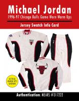 MICHAEL JORDAN 1996-97 CHICAGO BULLS GAME WORN WARMUPS MYSTERY SWATCH BOX! at PristineAuction.com