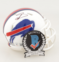 Stefon Diggs Signed Bills Speed Mini-Helmet (Beckett Hologram) at PristineAuction.com