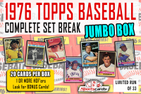"""1976 TOPPS BASEBALL COMPLETE SET BREAK"""" MYSTERY BOX– 20 CARDS PER BOX at PristineAuction.com"""