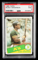 Rickey Henderson 1985 Topps #115 (PSA 9) at PristineAuction.com