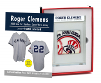 ROGER CLEMENS 2003 NY YANKEES GAME WORN JERSEY MYSTERY SWATCH BOX! at PristineAuction.com