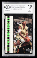 LeBron James 2003 Upper Deck Top Prospects LeBron James Promos #P1 (BCCG 10) at PristineAuction.com
