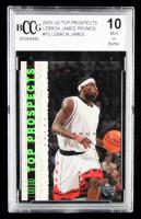 LeBron James 2003 Upper Deck Top Prospects LeBron James Promos #P2 (BCCG 10) at PristineAuction.com