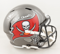 "Scotty Miller Signed Buccaneers Full-Size Speed Helmet Inscribed ""SBLV Champs"" (JSA COA) at PristineAuction.com"