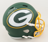 Davante Adams Signed Packers Full-Size AMP Alternate Speed Helmet (JSA COA) (See Description) at PristineAuction.com