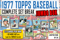 """1977 TOPPS BASEBALL COMPLETE SET BREAK"" MYSTERY BOX– 22 CARDS PER BOX at PristineAuction.com"