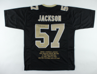 "Rickey Jackson Signed Career Highlight Stat Jersey Inscribed ""HOF 2010"" (Beckett COA) at PristineAuction.com"