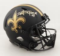 Alvin Kamara Signed Saints Full-Size Eclipse Alternate Speed Helmet (Beckett Hologram) (See Description) at PristineAuction.com