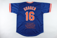 """Dwight """"Doc"""" Gooden Signed Career Highlight Stat Jersey (JSA COA) at PristineAuction.com"""