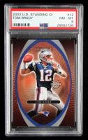 Tom Brady 2003 Upper Deck Standing O #12 (PSA 8) at PristineAuction.com