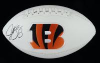 Jeff Blake Signed Bengals Logo Football (JSA COA) at PristineAuction.com